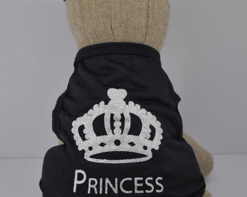 Princes feliratú fekete kutya póló 1