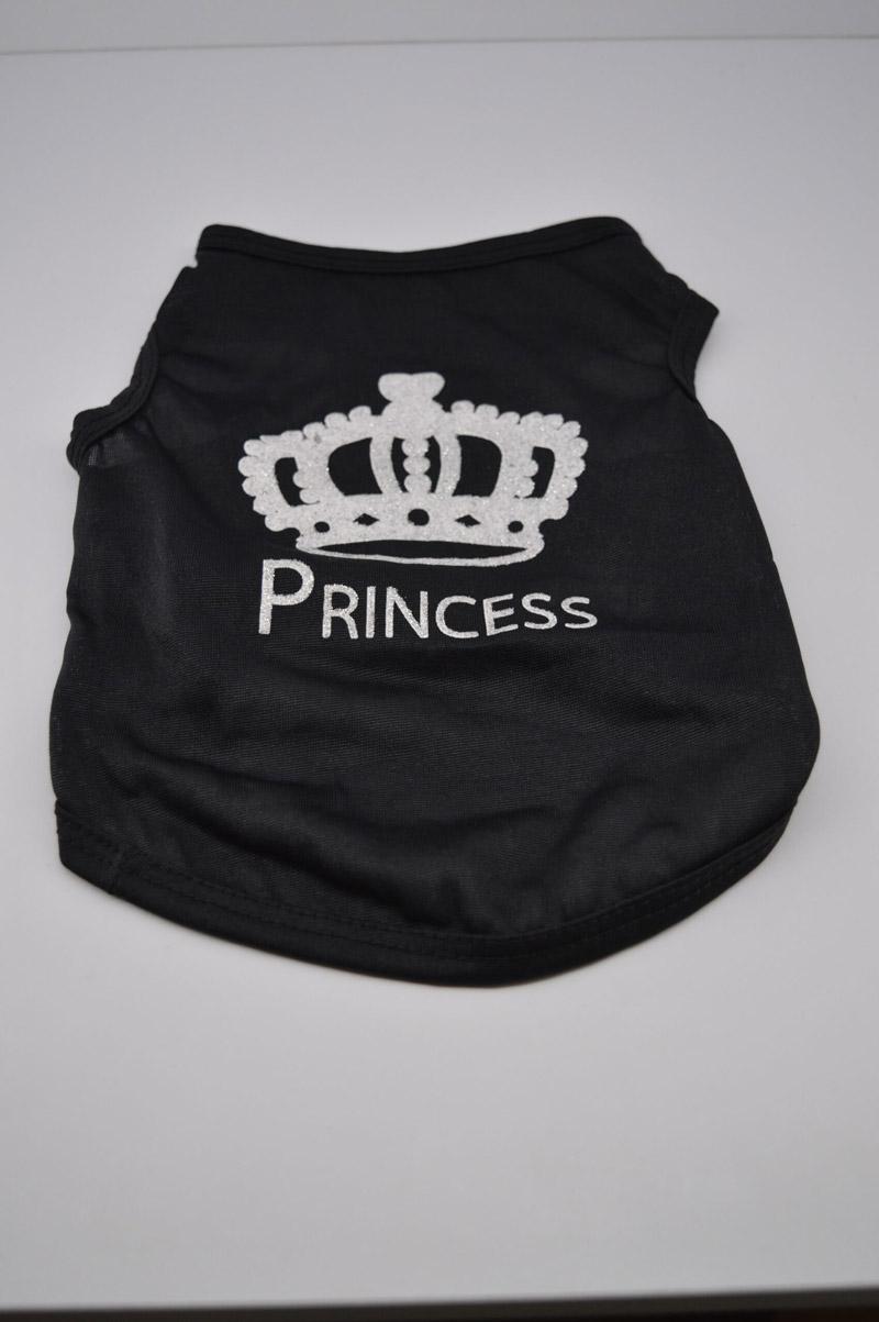Princes feliratú fekete kutya póló 2
