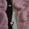 Rózsaszín pufi téli kutya overál és mellény 5