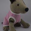 Rózsaszín rock star mintás kutya póló 2