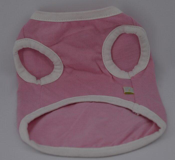 Rózsaszín rock star mintás kutya póló 4