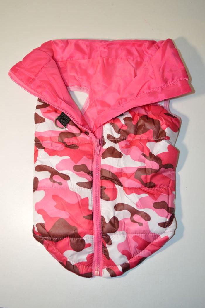 Rózsaszín terep mintás kutyamellény 3