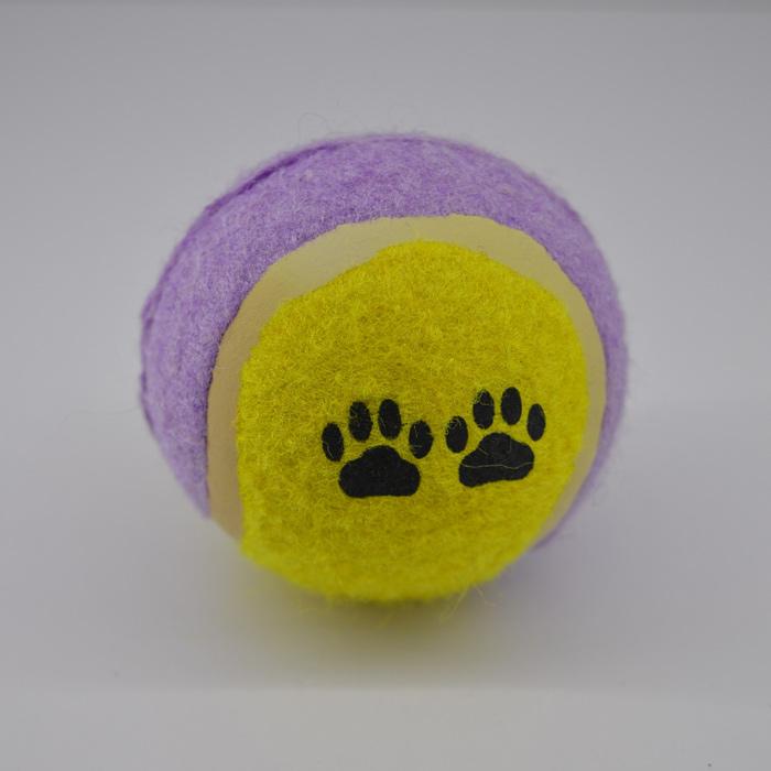 Sárga lila labda kutya játék