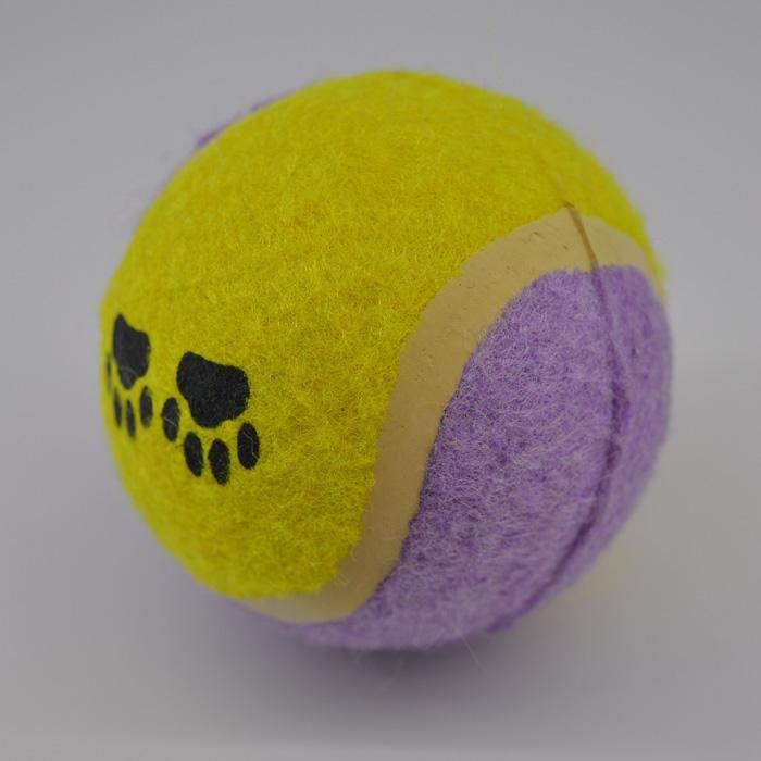 Sárga lila labda kutya játék 3