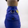 Tappancs hímzésű kék kutyamellény 1