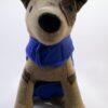 Tappancs hímzésű kék kutyamellény 5