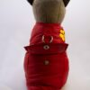 Tappancs hímzett piros kutyamellény 2