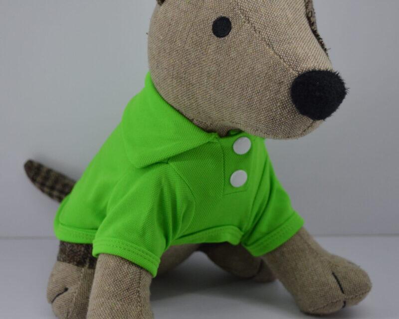 Zöld gombos galléros kutya póló 1