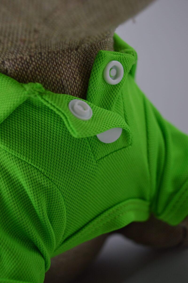 Zöld gombos galléros kutya póló 2