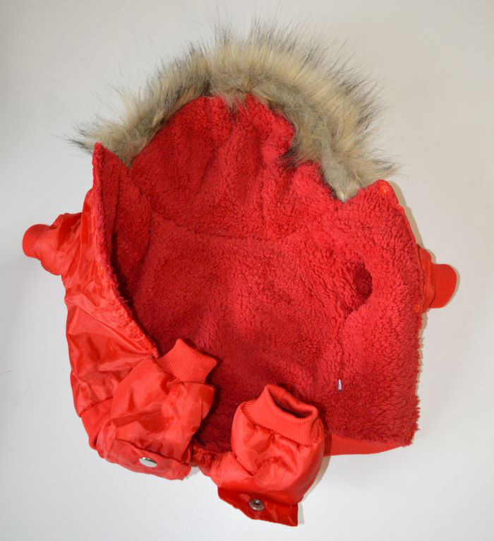 Piros TopGun piros téli kutyaoveráll 4