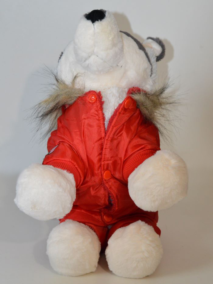 Piros TopGun piros téli kutyaoveráll 3