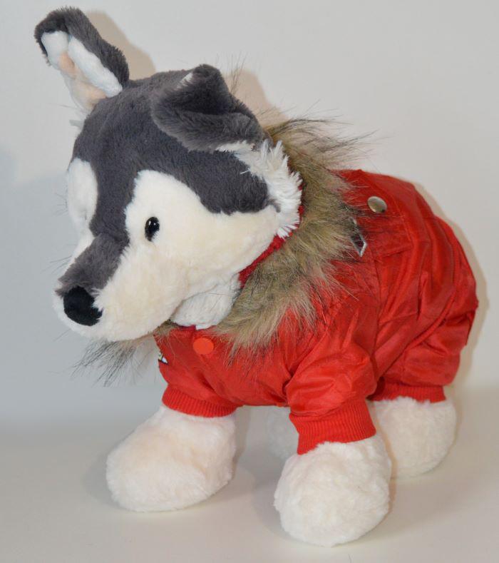 Piros TopGun piros téli kutyaoveráll 1