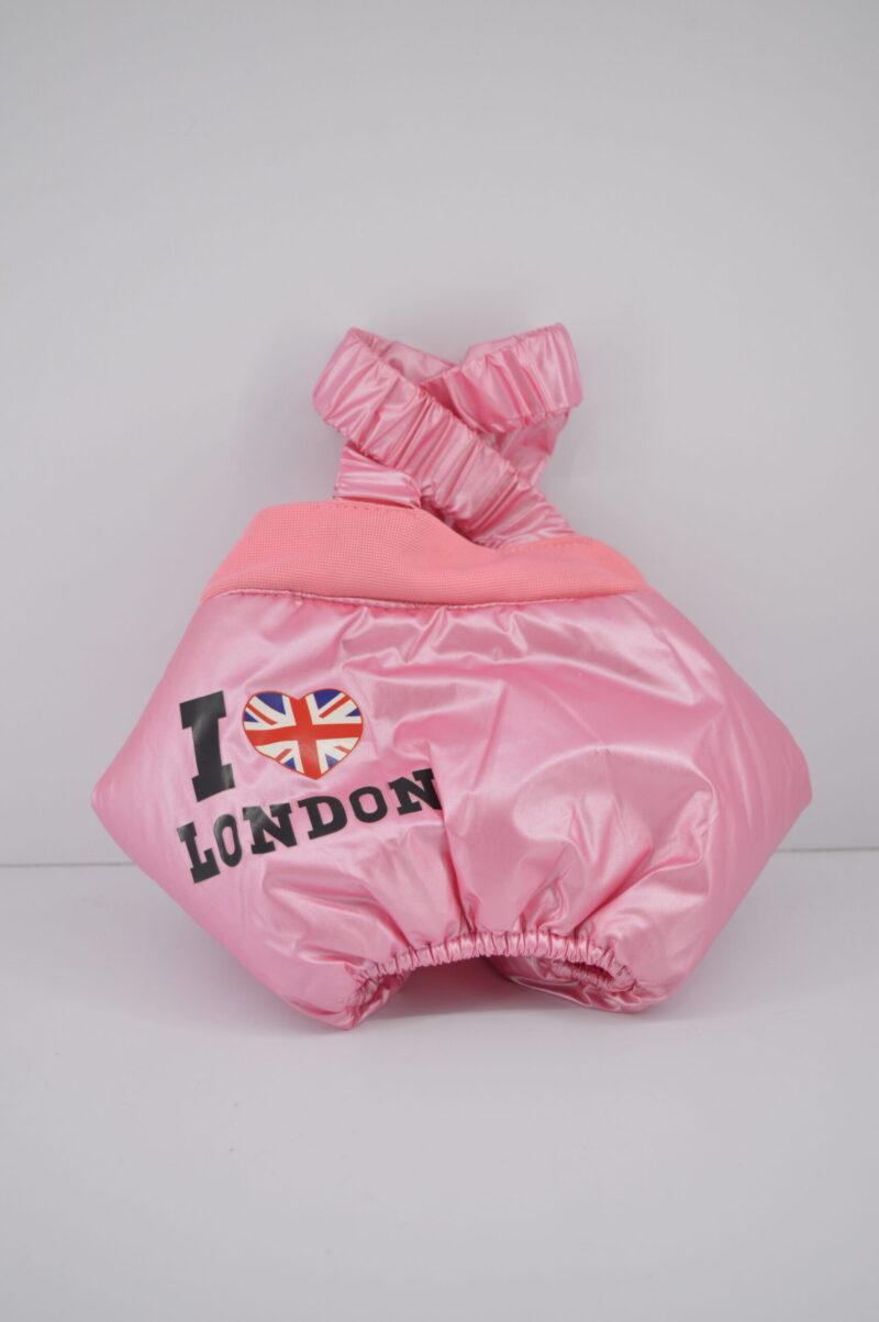 Rózsaszín kertész kutya nadrág 1